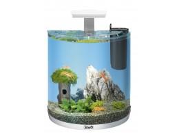 """Tetra AquaArt LED  30 л - аквариумный комплекс с LED освещением """"Полумесяц"""" белый для раков"""