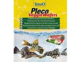 TetraPleco Veggie Waffers корм-пластинки с добавлением цуккини для донных рыб 15 г
