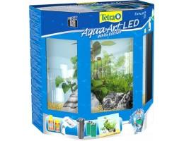 """Tetra AquaArt LED  30 л - аквариумный комплекс с LED освещением """"Полумесяц"""" белый"""